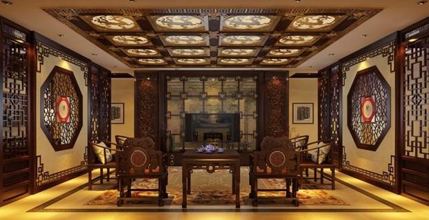 传统中式古典别墅  住宅室内设计师 孔德宝作品