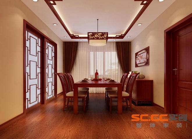 设计理念:红木餐桌配上顶面的实木线和半开放式的厨房门相呼应 亮点:简单又不失大气。 设计理念:清新亮丽的淡蓝色营造了儿童天真活泼的氛围。 亮点:儿童房顶面的星星,月亮的造型顶,使整个空间活泼可爱。 设计理念:实木雕花的造型顶结合墙面壁纸的合理搭配使原本长长的过道视觉上得以扩展。