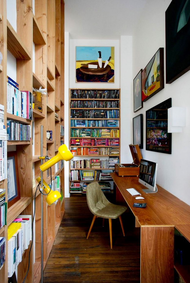 沙发旁边放书柜效果图