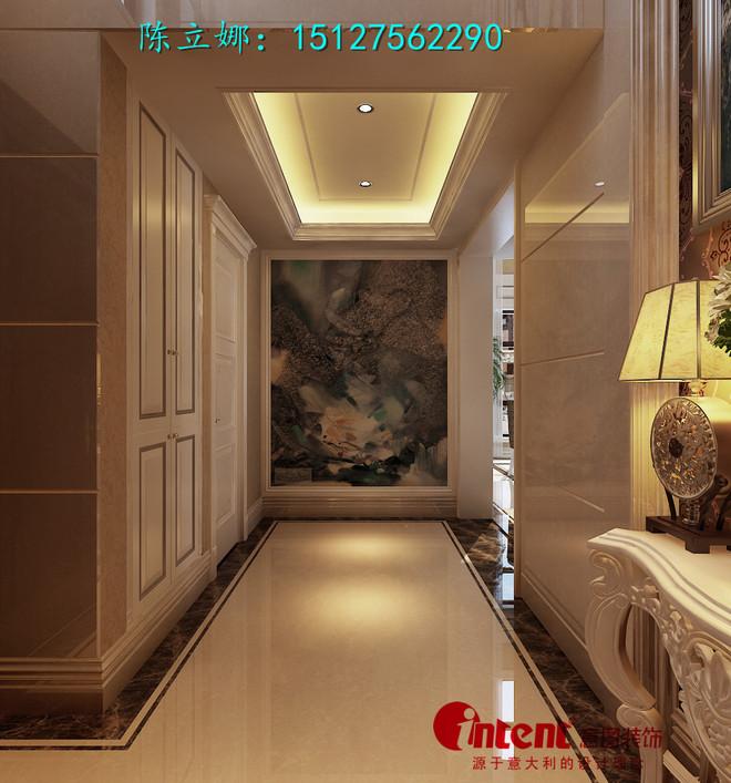 平米简欧风格联排别墅设计装修效果图案例  本案的设计风格为简约欧式