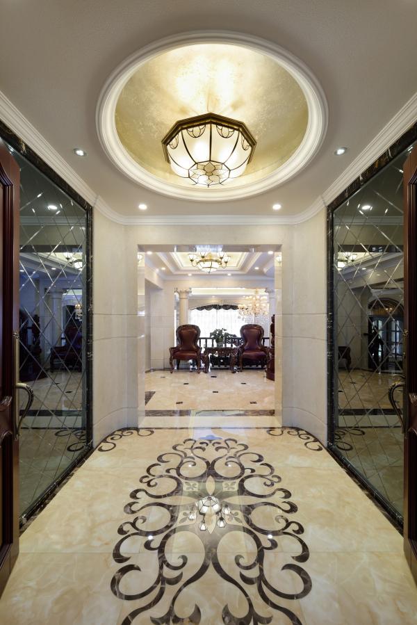 欧式别墅设计地面铺贴特漂亮【龙发装饰】