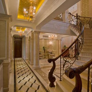 200平米以上别墅欧式古典风格楼梯装修效果图大全2015图片