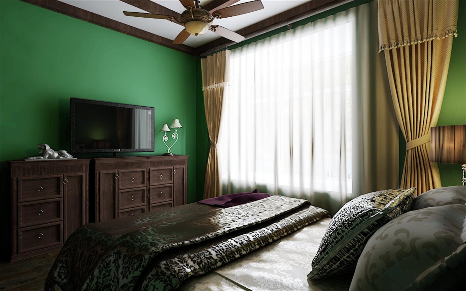 阳光梦想城小户型绿色清新东南亚