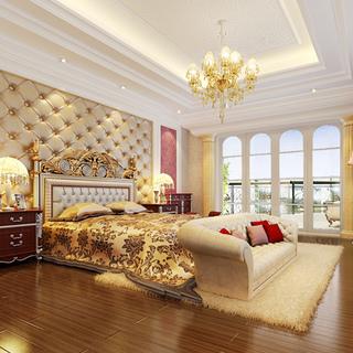 100-120平米欧式古典风格卧室装修效果图大全2015图片