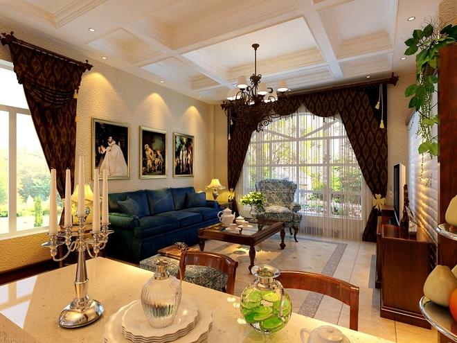 案例简介 工程地点:碧桂园 户型面积:200平 设计风格:美式乡村 设计说明:本案例为复式结构实木的纹理,清新的布艺沙发,复古的壁橱,流露出一股浓浓的美洲风情。客厅朱红色的实木桌椅,朴素花纹的地毯,瞬间给人一种尊贵之感;客厅通透的玄关设计,丰富了空间的层次感,双手触摸于实木纹理的推拉门上,感受实木散发的魅力;倚窗而坐木香与书香相互融合。