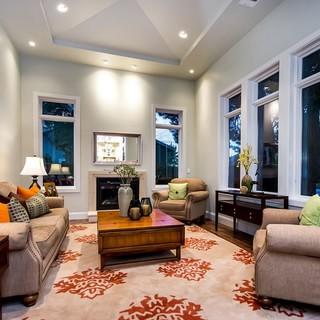 二居欧式古典风格灰色客厅装修效果图大全2015图片