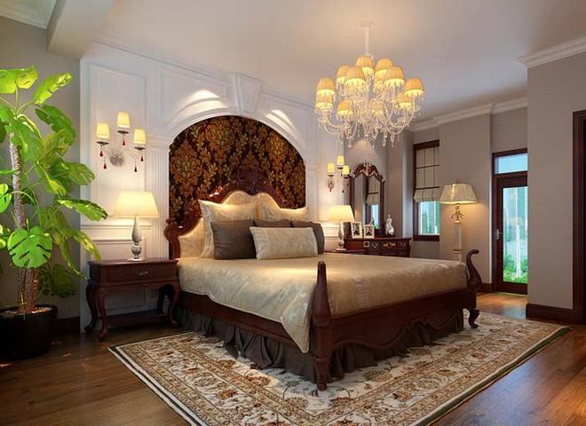床头背景墙的石膏板配合壁造型图片