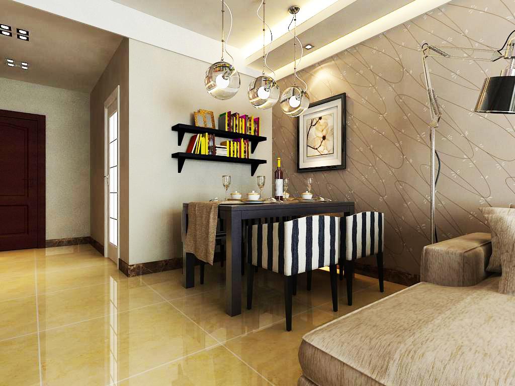 景祥苑93平米现代简约风格装修高清图片