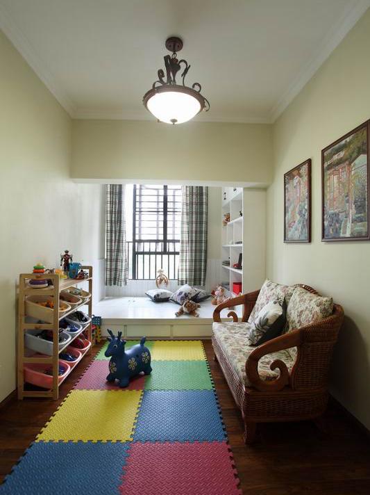 美式田园舒适公寓 120平特色家居装修效果图