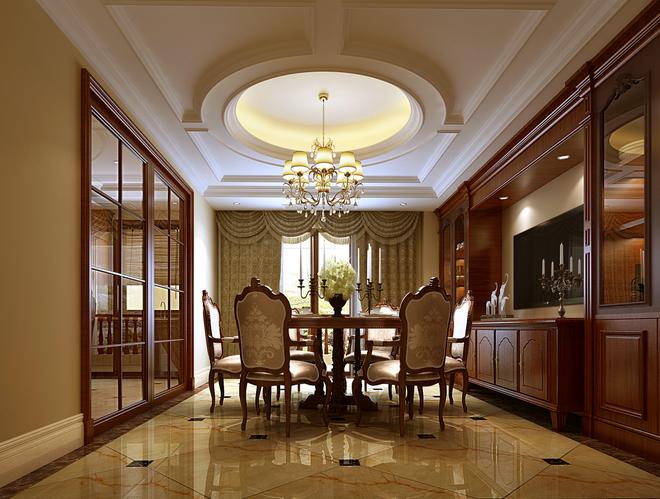 中安长岛480㎡欧式设计  风格上业主对欧式情有独钟,所以在门厅,过厅