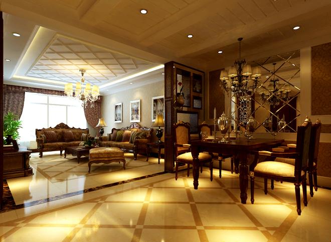 实木的纹理,清新的布艺沙发,复古的壁橱,流露出一股浓浓的美洲风情.客厅棕色色的实木桌椅,朴素花纹的地毯,瞬间给人一种尊贵之感;客厅通透的玄关设计,丰富了空间的层次感,双手触摸于实木纹理的推拉门上,感受实木散发的魅力;倚窗而坐,木香与书香相互融合, 沁人心脾;复古韵味的坐钟,灵动设计的台灯,成为书房的亮点之处;充分利用楼道的空间,将其作为衣帽间(或储物空间),从而满足了居家生活上的需求.
