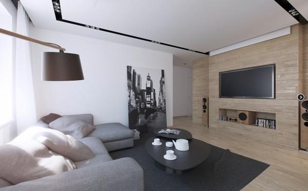 现代风格的华丽二居室装修效果图