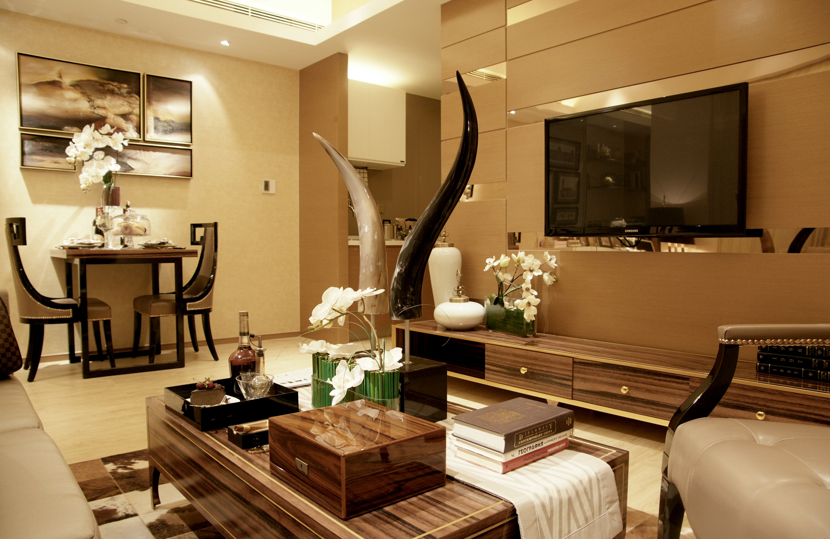 现代简约风格别墅装修效果图——上海尚层别墅装饰推荐
