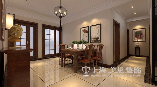 郑州豫航泊郡三室两厅新中式风格装修案例