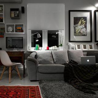 莫斯科灰色调一居单身公寓