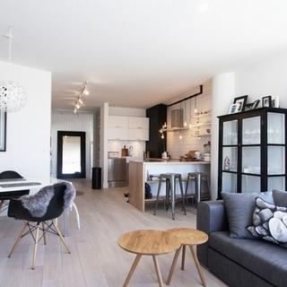 黑白浅木色 简约北欧风格两居室住宅