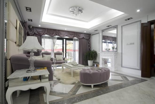 孔雀城别墅220平米户型欧式风格装修设计【龙发装饰
