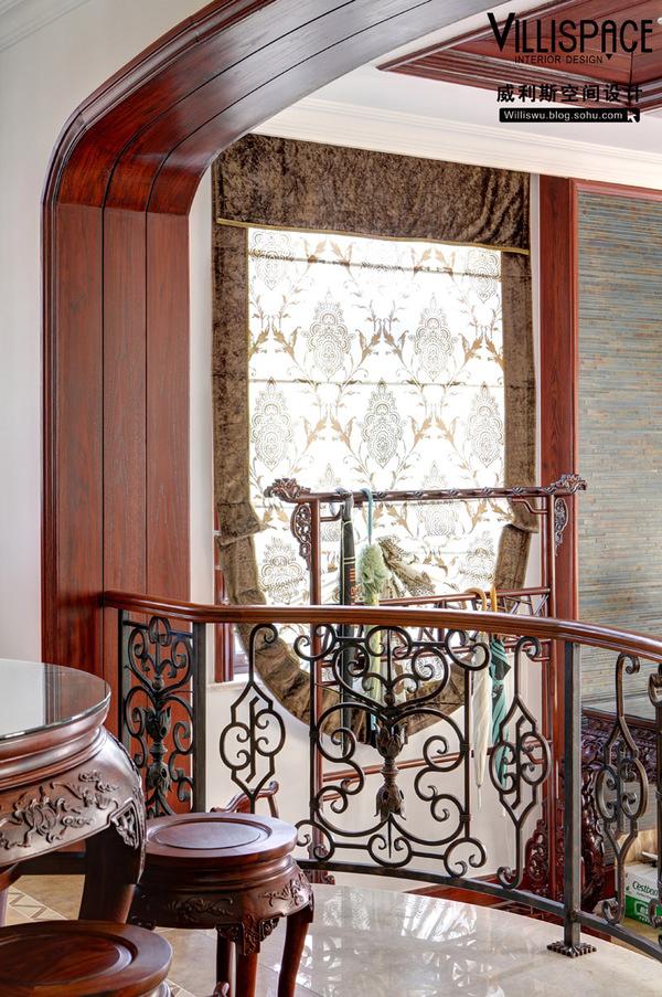 常熟怡景湾400平米花园别墅实景《怡静》--美式混搭装修效果图10.5x15加米联体别墅图片