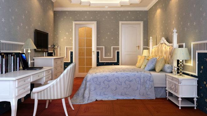 卧室欧式角花效果图