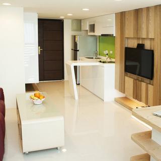 66平米的老屋改造成功能一应俱全的单身豪宅