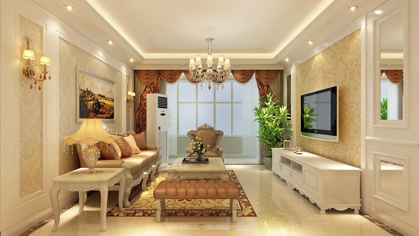 元洲装饰棕榈湾138平米简欧风格装修效果图高清图片