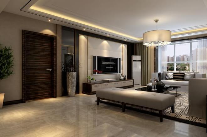 140平米祥云国际现代风格  本设计以简洁实用为主,门厅的银镜设计和精