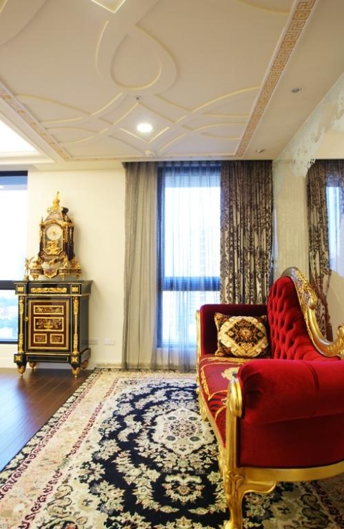 法式新古典主义三室两厅两卫装修效果图