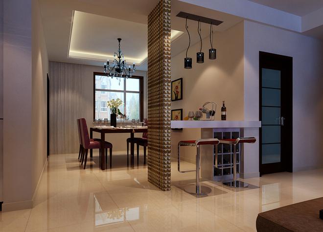 客厅阳台宽度较小利用率低,利用地台延伸至客厅加出一个休闲区,同时