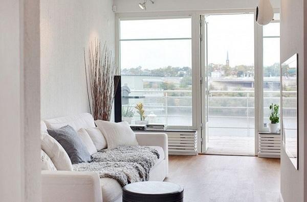 100平米简约宜家风带露台三居室装修效果图