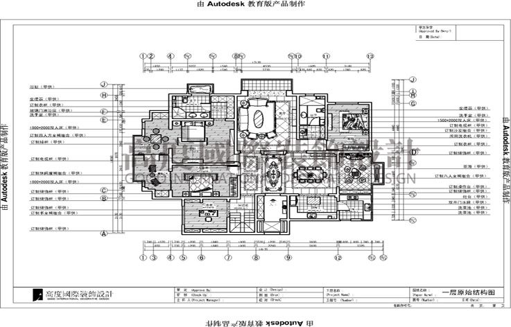 旭辉御府211平四室两厅欧式风格设计效果图案例