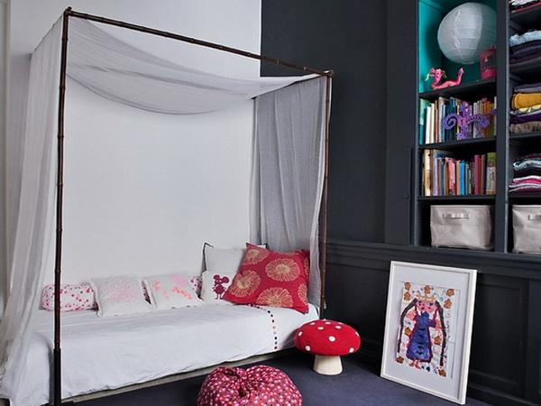 独特色彩艺术气息混搭三居室装修效果图