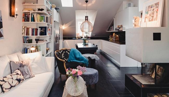 美丽的70平米一居室阁楼小屋
