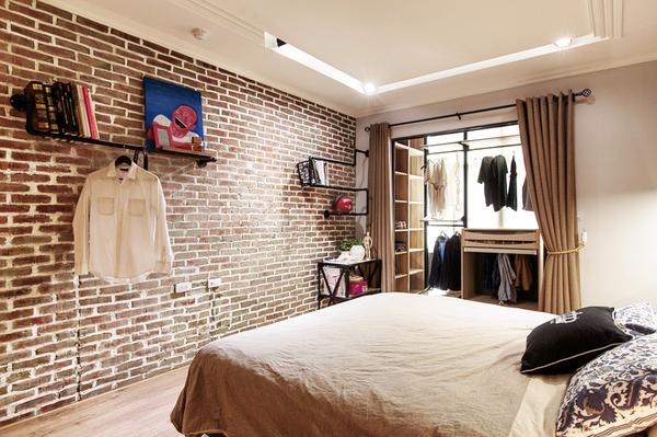 有2 间卧室的混搭风21平绿色小户型装修效果图