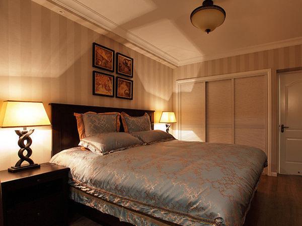 110平精致美式风复式三居室装修效果图