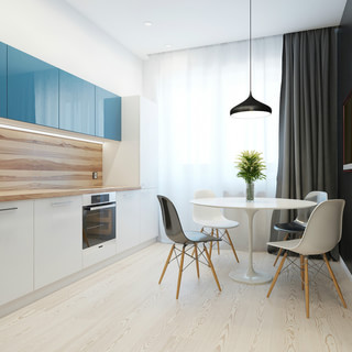 大胆的色彩装饰 42平米工作&生活家居