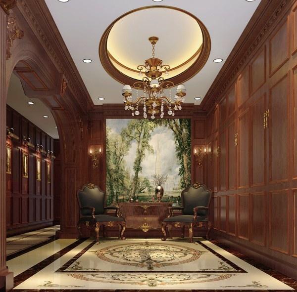皇室优雅 燕西台别墅欧式装修案例装修效果图