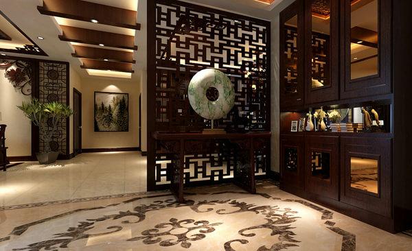 180平四房适合老年人的中式风格装修效果图