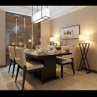 现代木色风格设计三居室装修