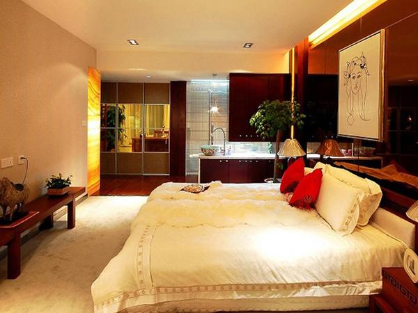 中式风格的都市古典四居室装修效果图