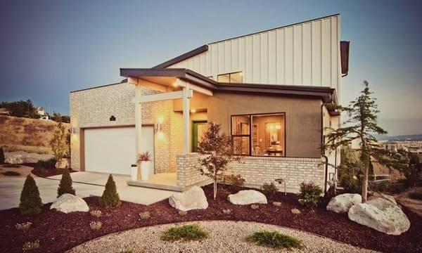 纯正的美式风三居室住宅装修效果图