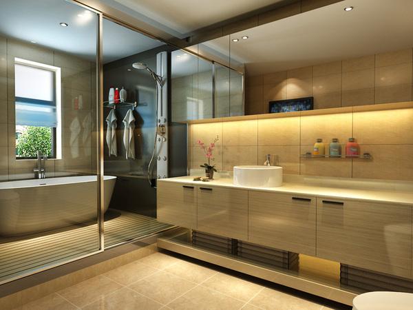 现代美式两居室装修效果图