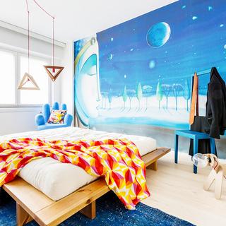 鲜艳的多彩一居室公寓 活泼又丰富