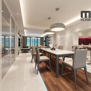 时尚简约大户型---160平方米室内家居设计