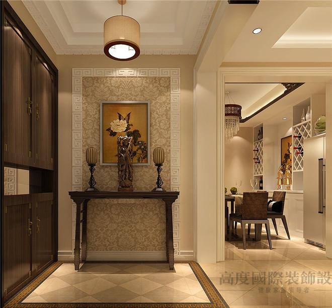 客厅以电视背景墙为主要亮点,运用混油的木质护墙板和壁纸结合装饰,顶图片
