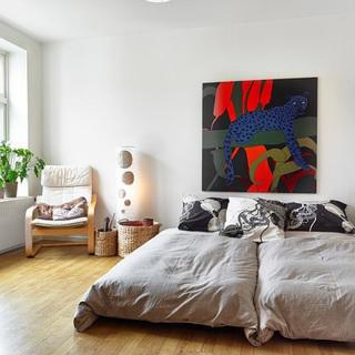 40-60平米北欧风格灰色卧室装修效果图大全2015图片