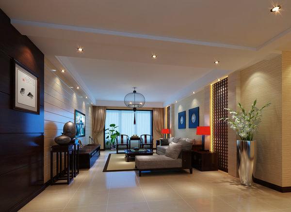 上海实创装饰之中式古典的绿地香颂公寓装修效果图