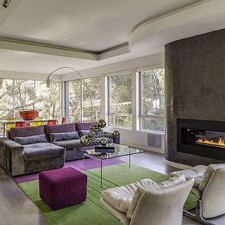 现代风格的林中住宅