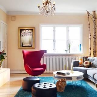 瑞典76平米彩色北欧公寓