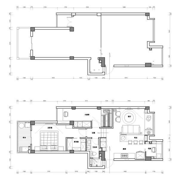 以酷的姿态享受生活  现代三居室装修效果图
