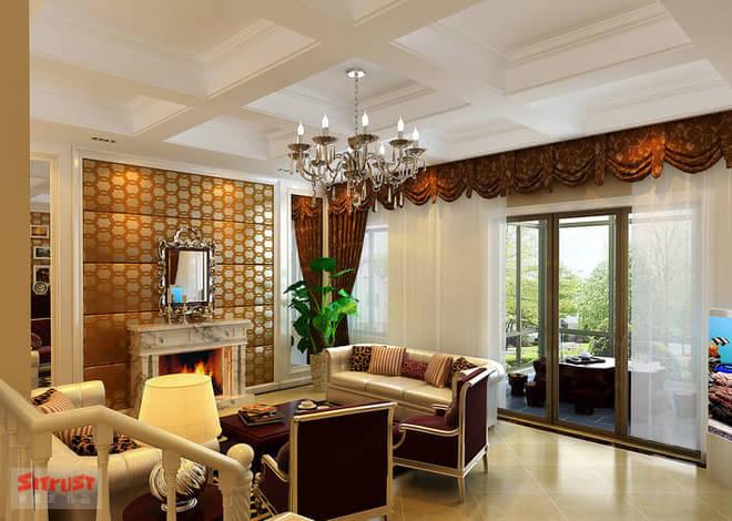 57平米 房屋结构:2室2厅3卫 装修风格:欧式 业主简介:客户是一对四十